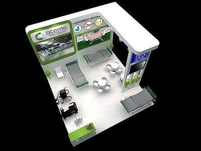 展廳模型3d模型