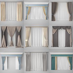 3d窗帘模型