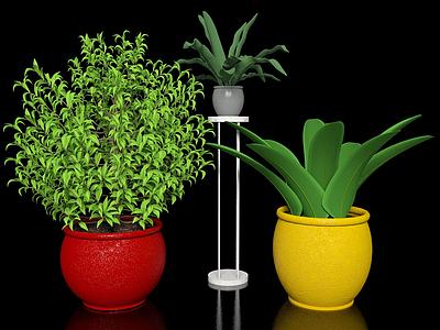 3d現代綠植模型