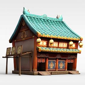 游戏场景房屋建筑模型