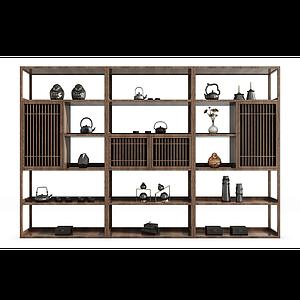 裝飾柜博古架組合模型