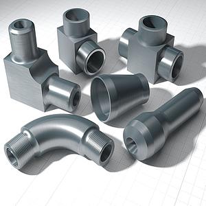 現代五金水管管道模型
