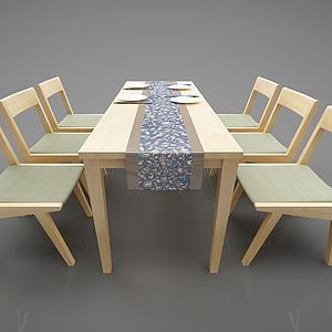 3d<font class='myIsRed'>新中式</font>餐桌模型