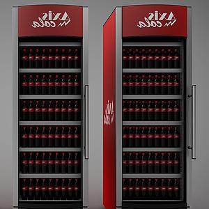 超市飲料冰柜模型