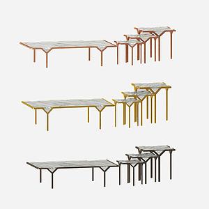 現代咖啡桌模型