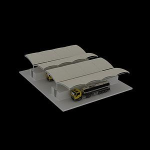 裝卸區模型