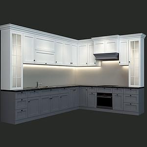 現代廚房櫥柜模型