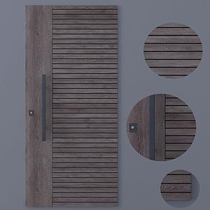 現代實木木門模型