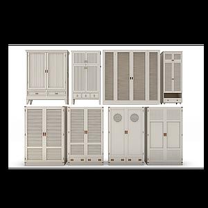 3d欧式美式田园衣柜模型