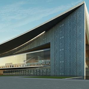 3d大型體育建筑博物館模型