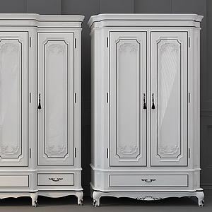 3d欧式法式衣柜模型