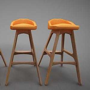 3d吧椅模型