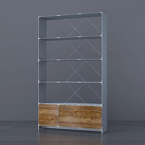 現代玻璃儲物架紅酒架模型