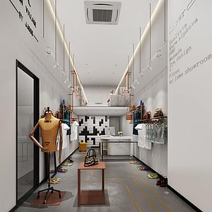 3d服裝店模型