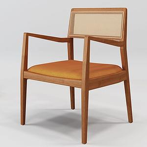 3d日式单椅模型
