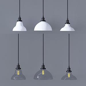 現代盤型吊燈模型