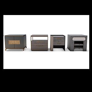 3d新中式床头柜模型