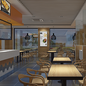 3d<font class='myIsRed'>餐厅</font>模型