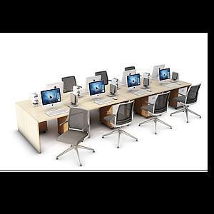 3d辦公桌椅工位模型