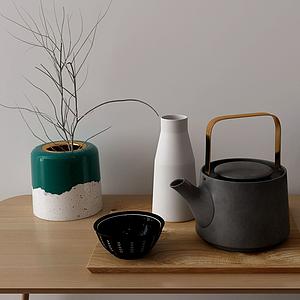 茶壺擺件組合模型