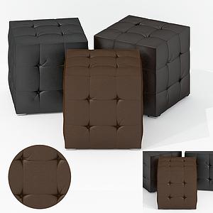 美式面包軟凳模型