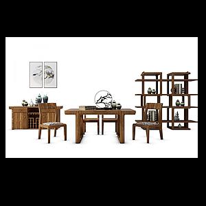 3d<font class='myIsRed'>新中式茶桌</font>模型