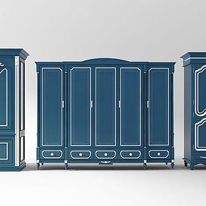 3d地中海欧式大衣柜模型