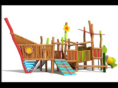 兒童滑梯戶外滑梯模型