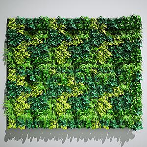 植物墻模型
