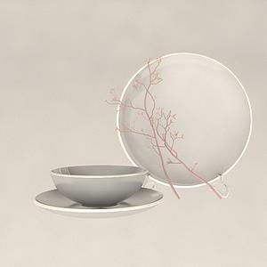 裝飾品盤子碗模型
