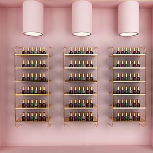 3d化妆品展示柜模型