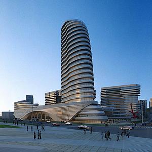 3d建筑透視模型
