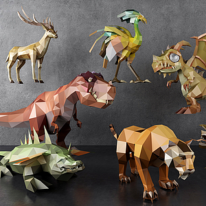 3d幾何動物模型