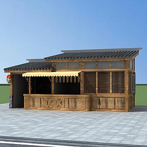 3d中式小賣部模型