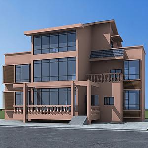 3d農村小別墅模型