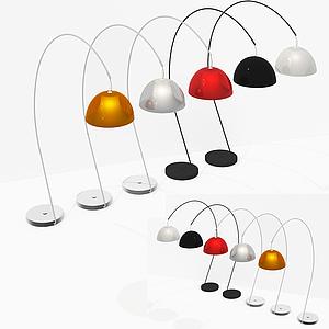 現代半圓燈罩臺燈模型