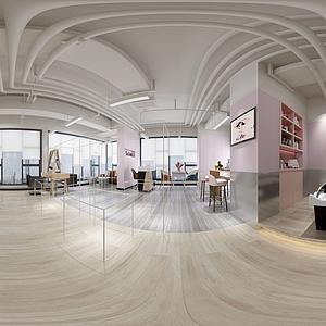 發廊美容店全景模型