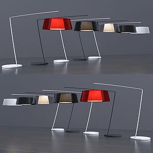 現代圓盤臺燈模型