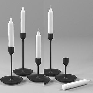 現代蠟燭臺蠟燭燈模型