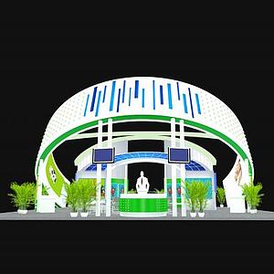 高端大氣展廳模型