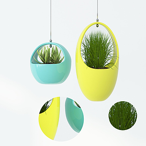 3d現代吊瓶植物<font class='myIsRed'>盆栽</font>模型