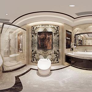 卫生淋浴间全景模型