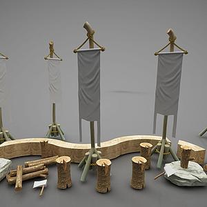木才裝飾模型