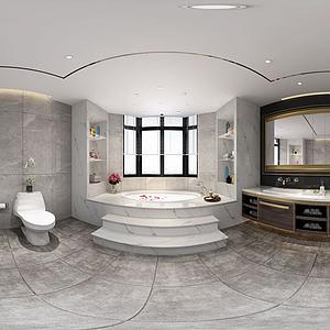 衛生淋浴間全景模型
