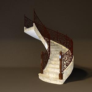 旋轉樓梯模型