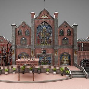 3d古建筑模型