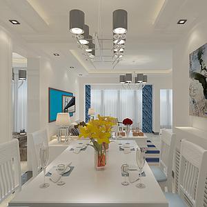 3d餐廳模型