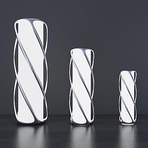現代臺燈裸燈模型
