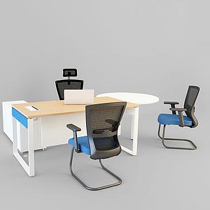 3d辦公桌模型