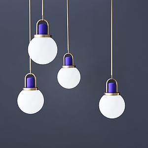 3d<font class='myIsRed'>現代</font>燈泡吊燈模型